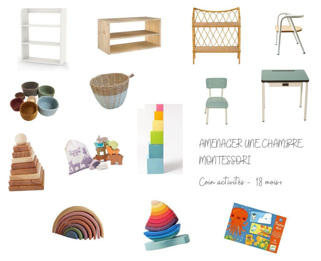 Aménager une chambre Montessori - Coin activités