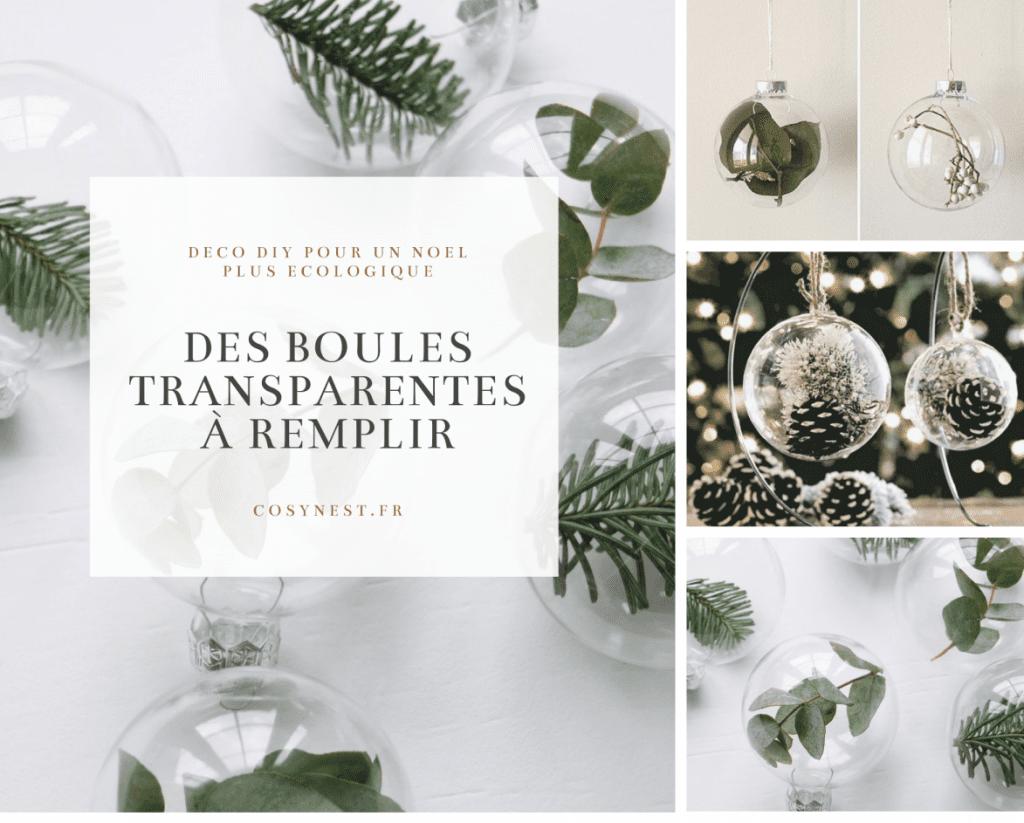 Boules de Noel transparentes