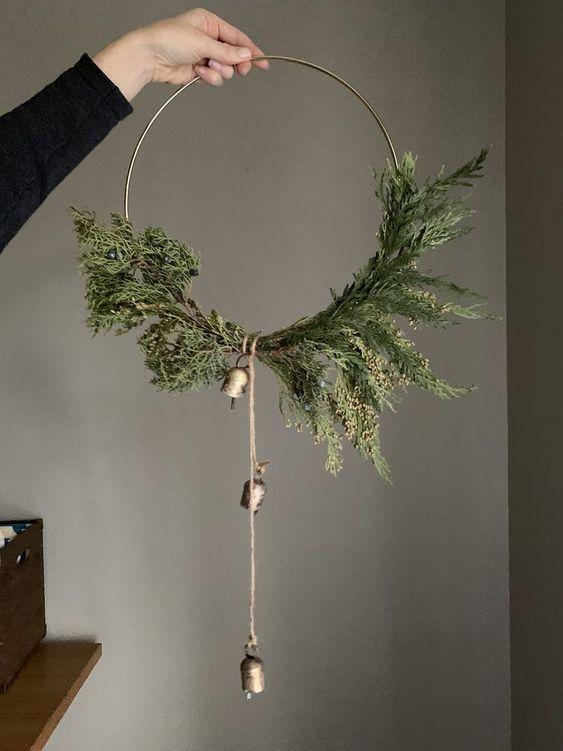 couronne de Noel naturelle