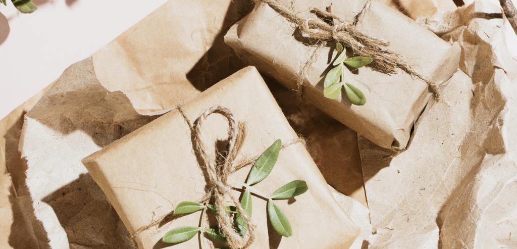 Paquet cadeau écologique