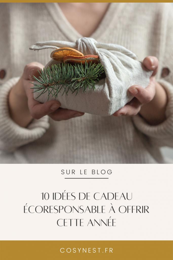 Montage Pinterest _ article 10 idées de cadeaux écoresponsables