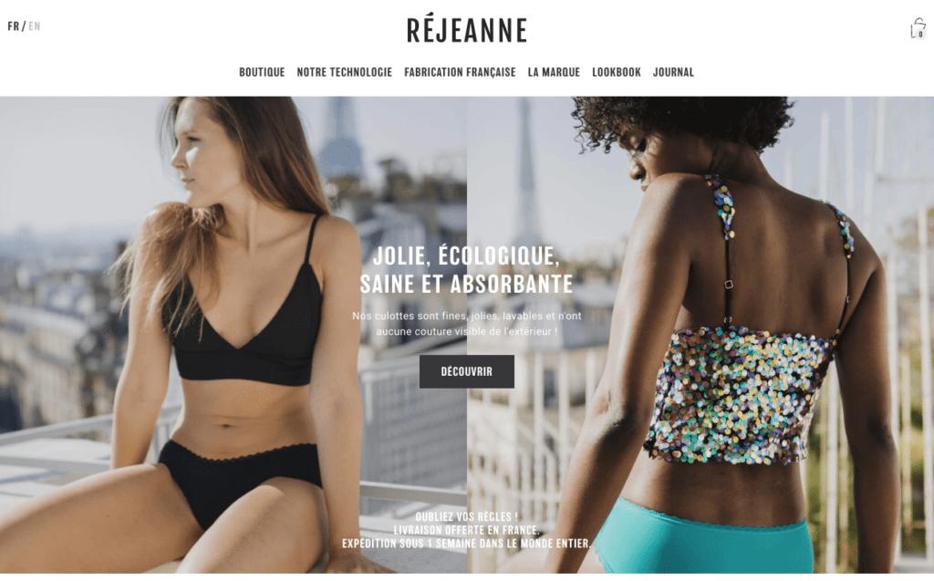 Screenshot du site Rejeanne
