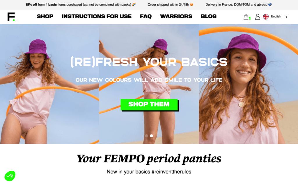 Site de Fempo culottes menstruelles